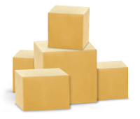 parcels, packages, boxes