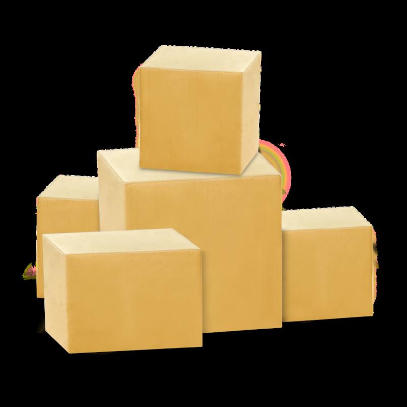 parcels, packages, boxes